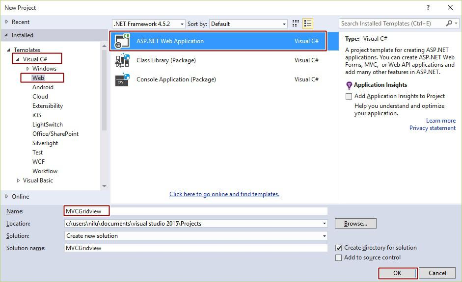 Bind GridView With Database In MVC 5 In C#