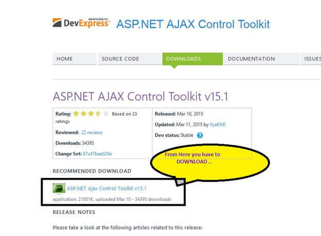 ajax control toolkit for visual studio 2010 free download