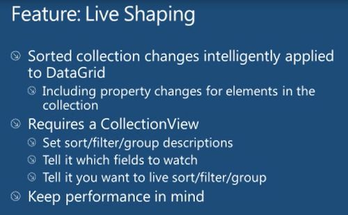 WPF 4 5: Live Shaping
