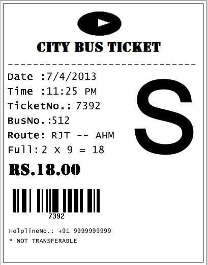 Ticket Generation Using C# in  NET