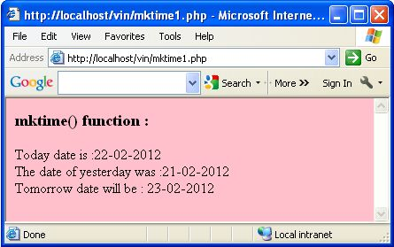 Php date function in Melbourne