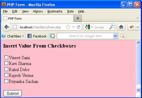 how to use multiple checkbox in html
