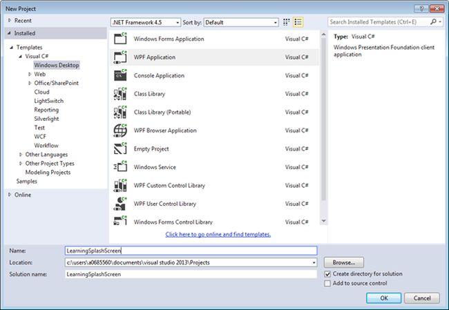 Create Splash Screen in WPF