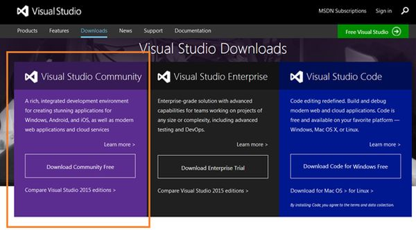 Start Node js Development in Visual Studio 2015