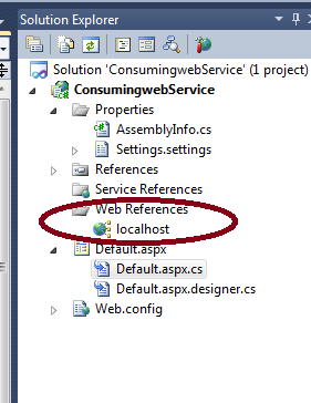 Consuming Web Service In ASP Net Application