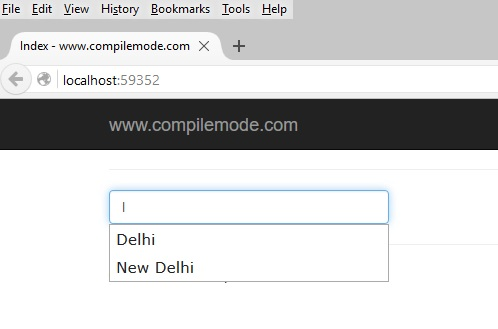 Creating AutoComplete TextBox In ASP NET MVC 5