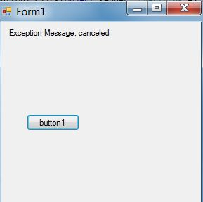 how to handle asyn task catch exception