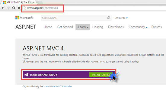 Creating First Application In ASP NET MVC 4 0