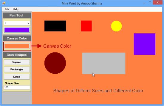 Mini Paint Application Using C