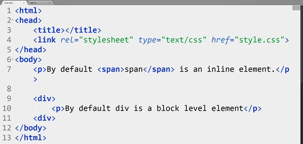 Display Property in Cascading StyleSheet