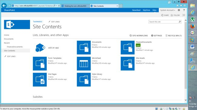 Create document library in sharepoint 2013 for Sharepoint 2013 document library template