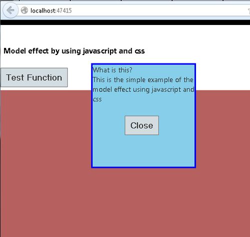 how to create modal popup in javascript