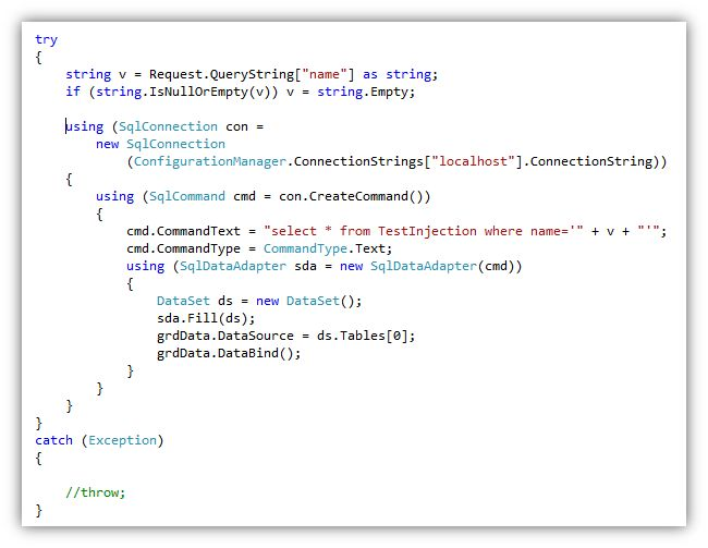 Coding instructions to prevent sql injection - Sql injection drop table example ...
