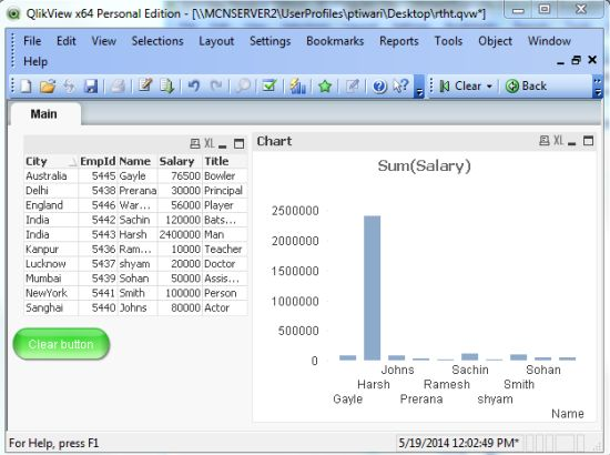 Creating button object in qlikview for Pivot table design qlikview