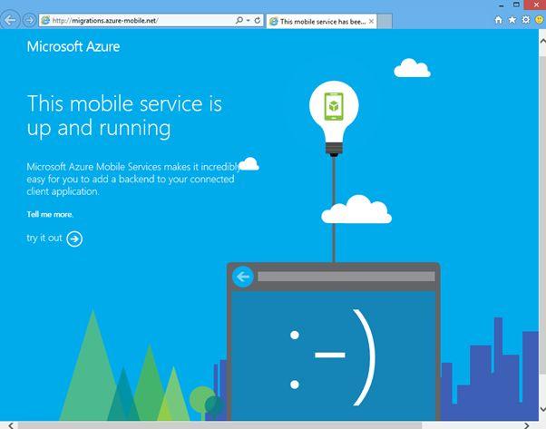 Azure Mobile Service running