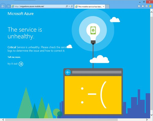 Azure Mobile Service with errors