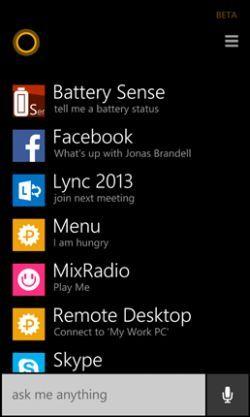 Using Cortana in windows phone