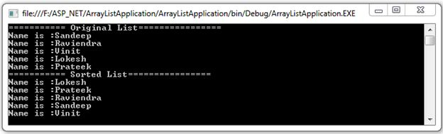 ArrayList in C#