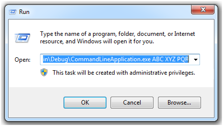 c how to bring up windows form console application