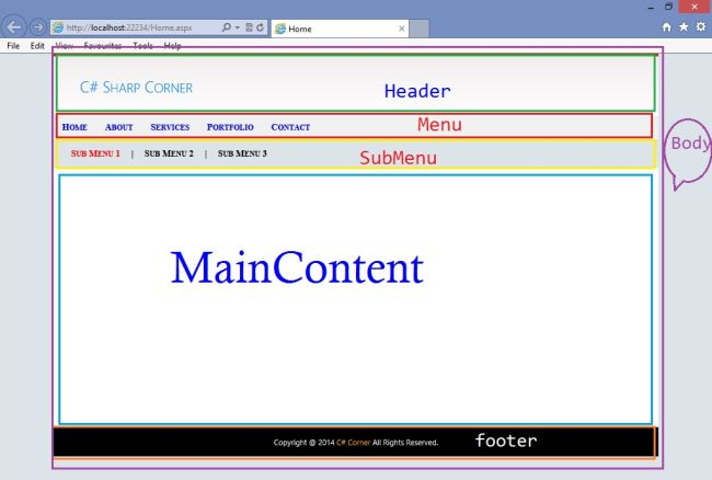 Master pages in asp net for Master page asp net with free template