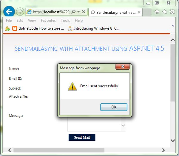Send Asynchronous Mail With Attachment Using ASP Net 4 5