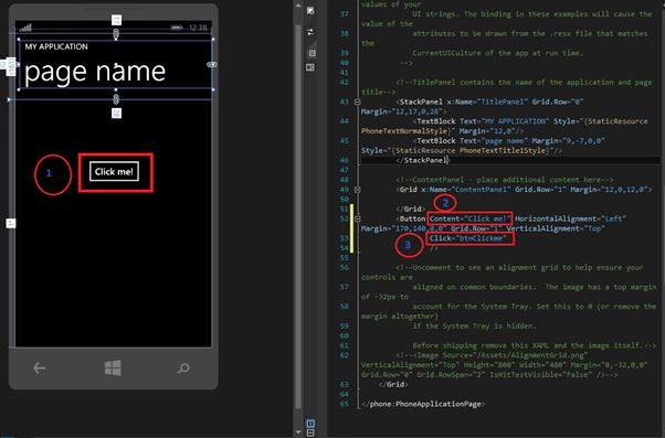 how to create windows phone application in c
