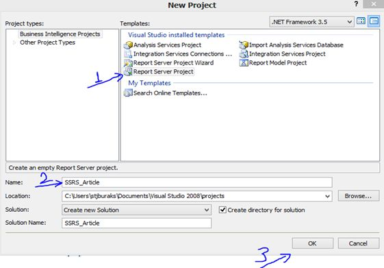 Procedure to Create a New SSRS Report