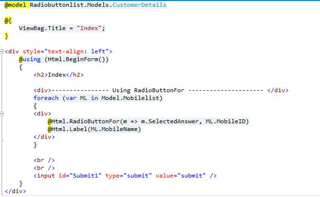 Binding Radiobutton And Radiobuttonlist In Various Way In