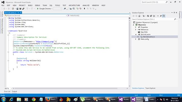 Create Simple Web Service in Visual Studio 2008 / 2010 /2012