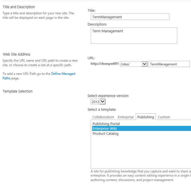 Add Custom Taxonomy Term To Site Pages In Sharepoint 2013