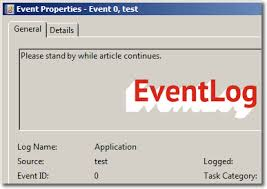 Write an Exception in Event Log