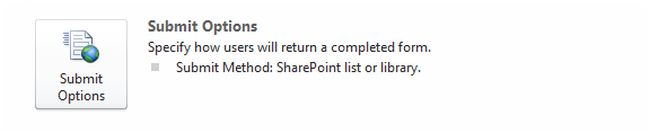 form submit option in sharepoint