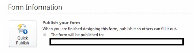 publish form in sharepoint
