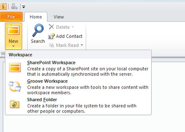 how to create a workspace in sharepoint 2013