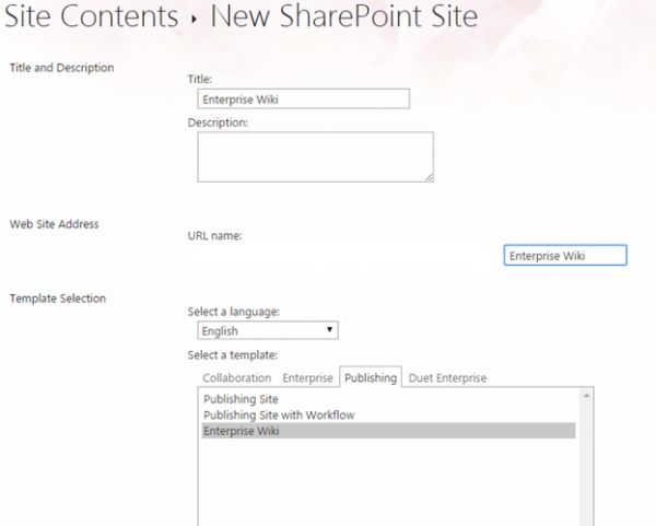 Site Templates Part 13 Enterprise Wiki In Sharepoint 2013