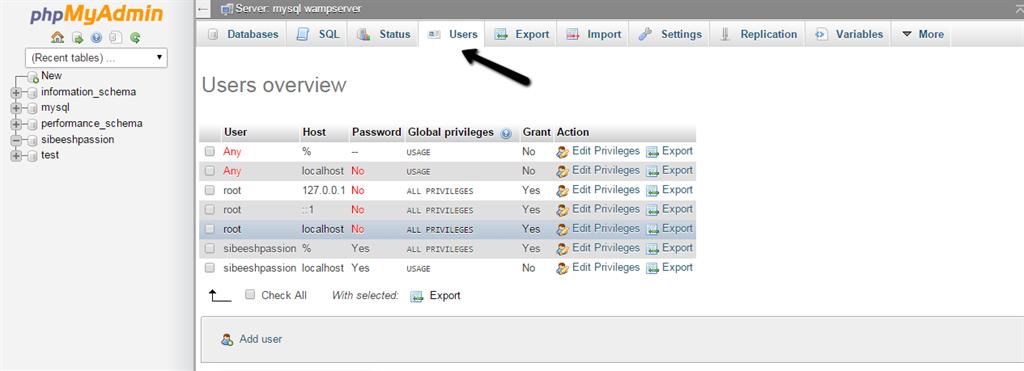 How to create database in wamp server using phpmyadmin pdf