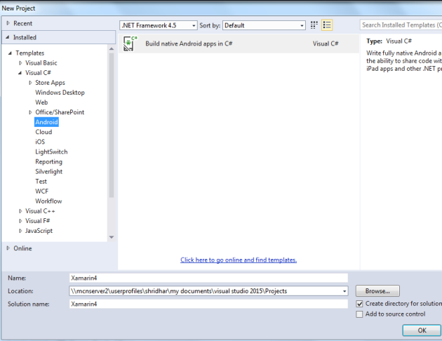 Emulator For Android In Visual Studio 2015