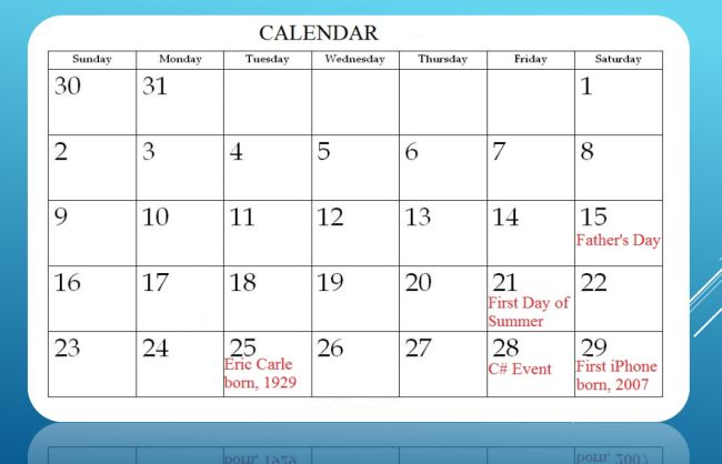 Showing Date Events in ASP Net Calendar Control