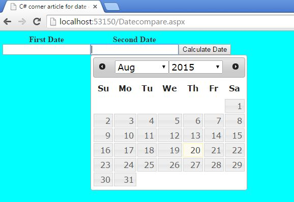 how to put date in textbox