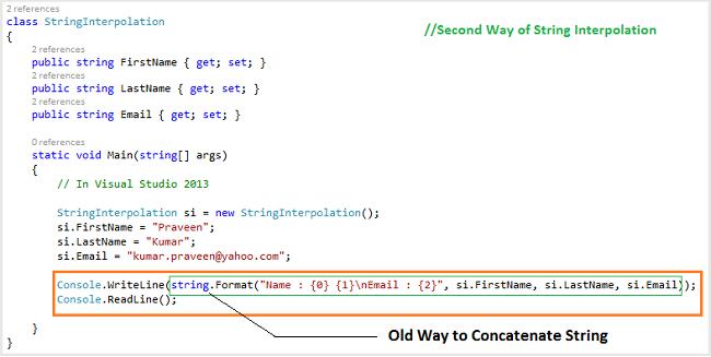 String Interpolation In C 6 0 Try Dotnet