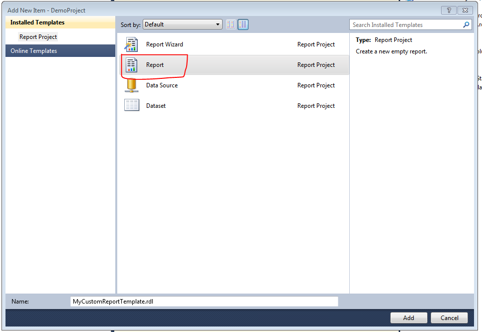 how to create a template file with sql