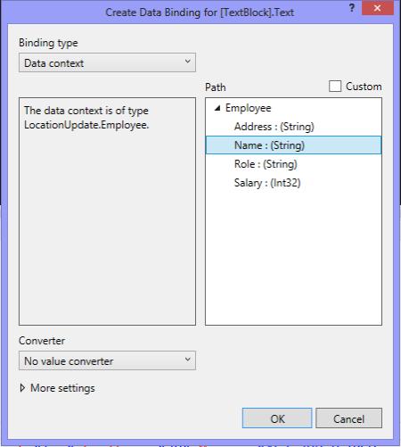XAML Designer Data Bound In Windows Store Apps