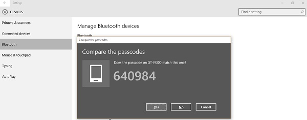 how to connect to a bluetooth device windows 10