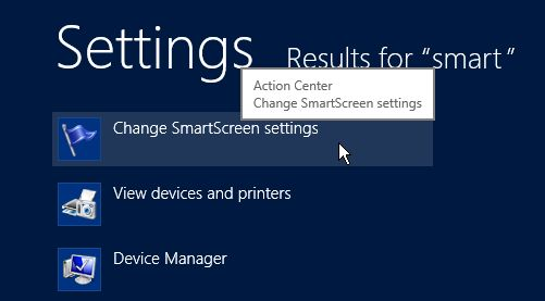 how to turn of windows smart screen