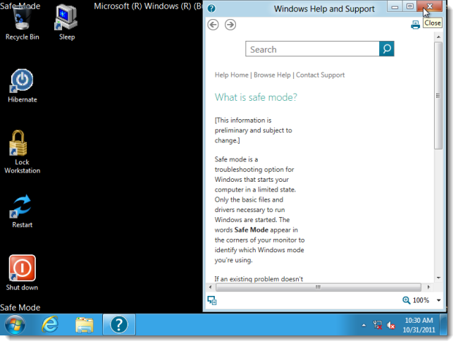 how to go to safe mode in windows 8