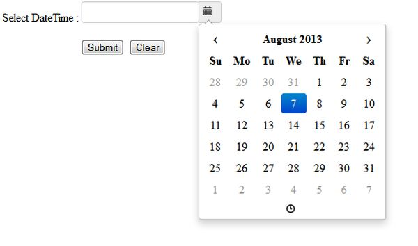 Date Time Picker in jQuery and JavaScript