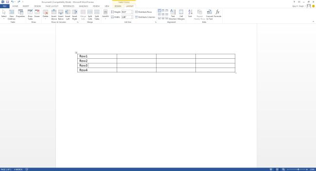 select-row-where-insert-new-row-in-word2013.jpg