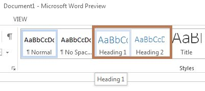 how to create a manual in word 2013