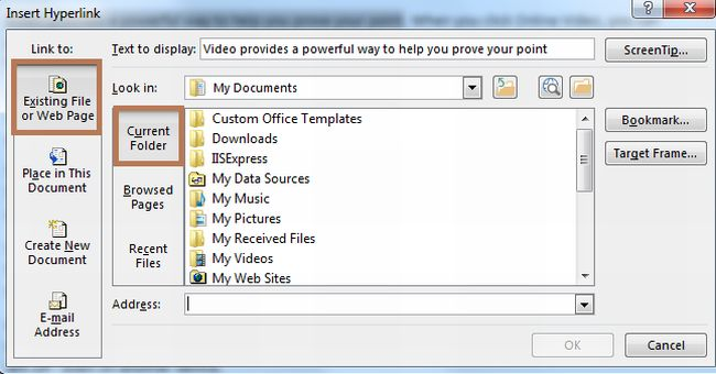 how to create hyperlinks within same document word