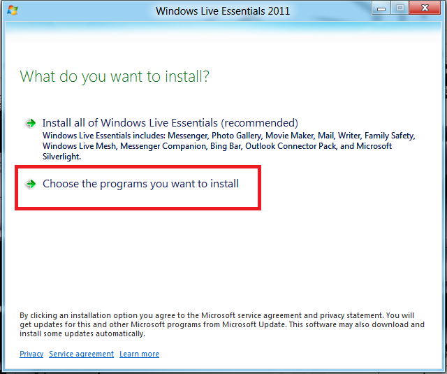 choose-windows-live-Essential-in-windows 8.png